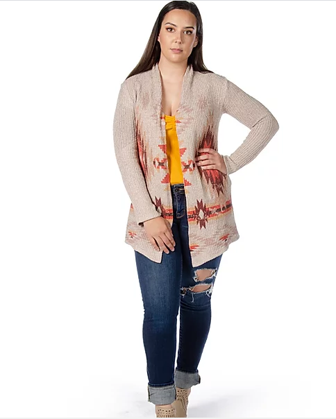 Liberty Wear Collection Cardigan: Aztec Tribe