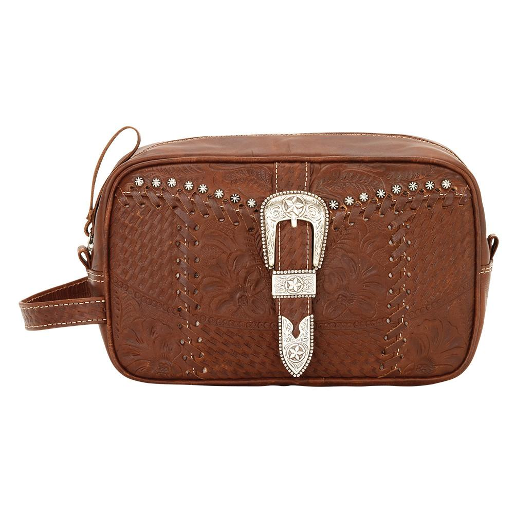 American West Handbag Travel Retro Romance Dop Kit Front View
