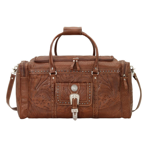 American West Handbag, Retro Rodeo Bag Luggage Light Brown Front