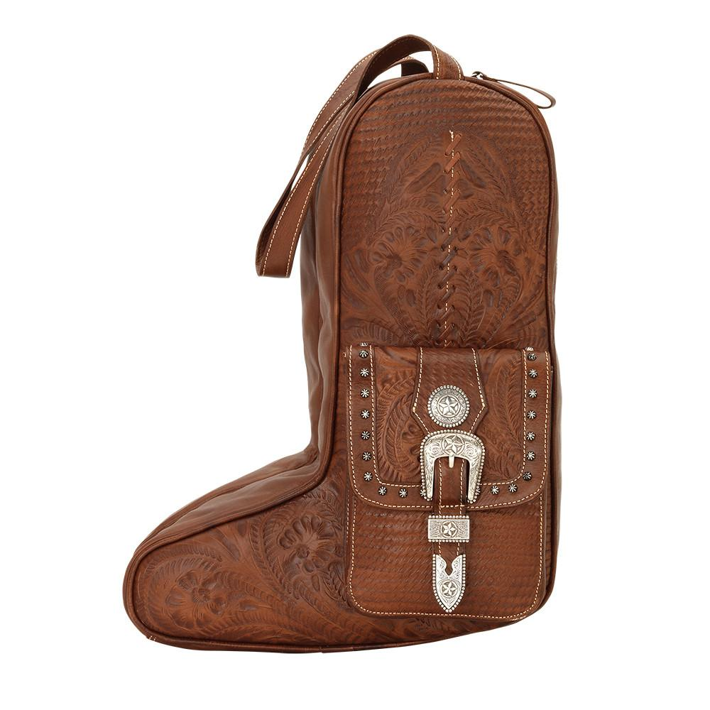 American West Handbag Travel Retro Luggage Boot Bag Side