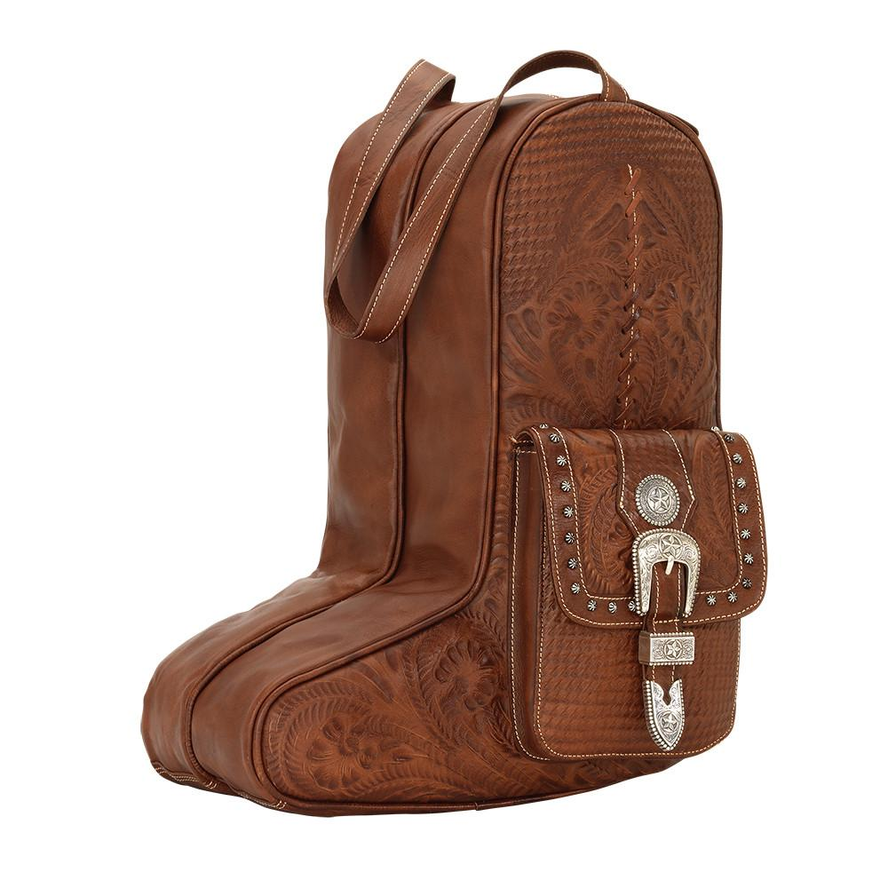 American West Handbag Travel Retro Luggage Boot Bag Front View