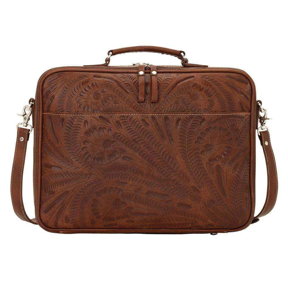 American West Handbag, Travel Retro Romance Briefcase Back View