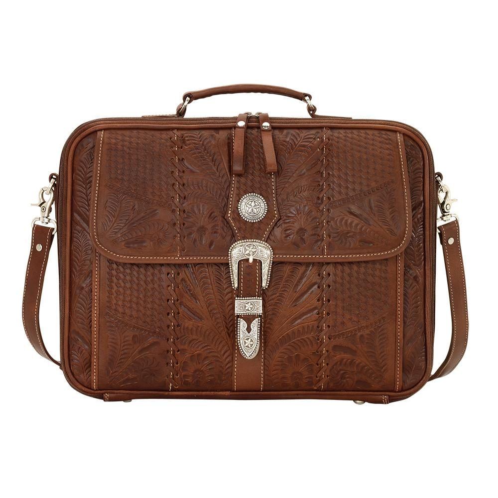 American West Handbag, Travel Retro Romance Briefcase Front View