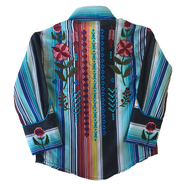 Rockmount Ranch Wear Children's Serape Embroidered Shirt Front