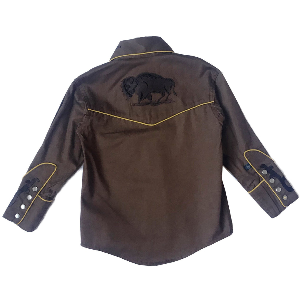 Rockmount Ranch Wear Childrens Fancy Western Shirt Bison Back
