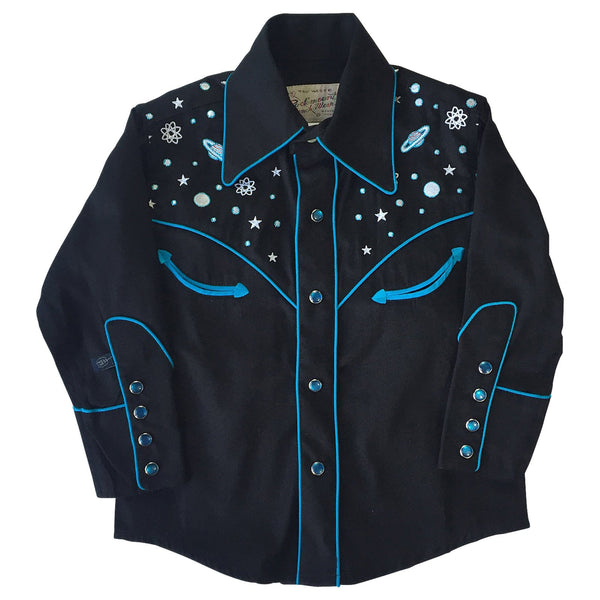 Rockmount Ranch Wear Children's Shirt Out of This World Black Front