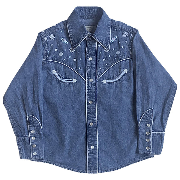 Rockmount Ranch Wear Vintage Western Children's Out Of This World Denim Front
