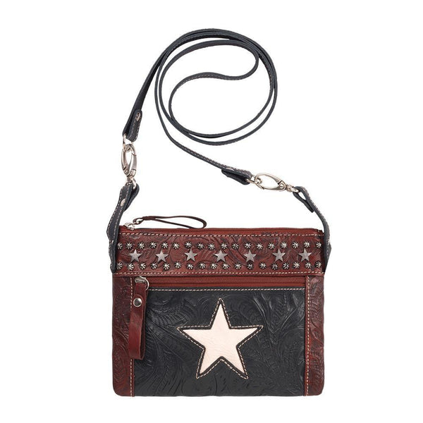 American West Handbag, Trail Rider Collection, Crossbody Lone Star