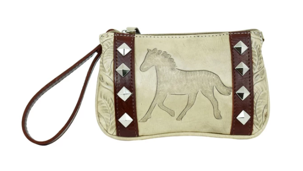 American West Hitchin' Post Collection Event Wristlet Clutch Sand