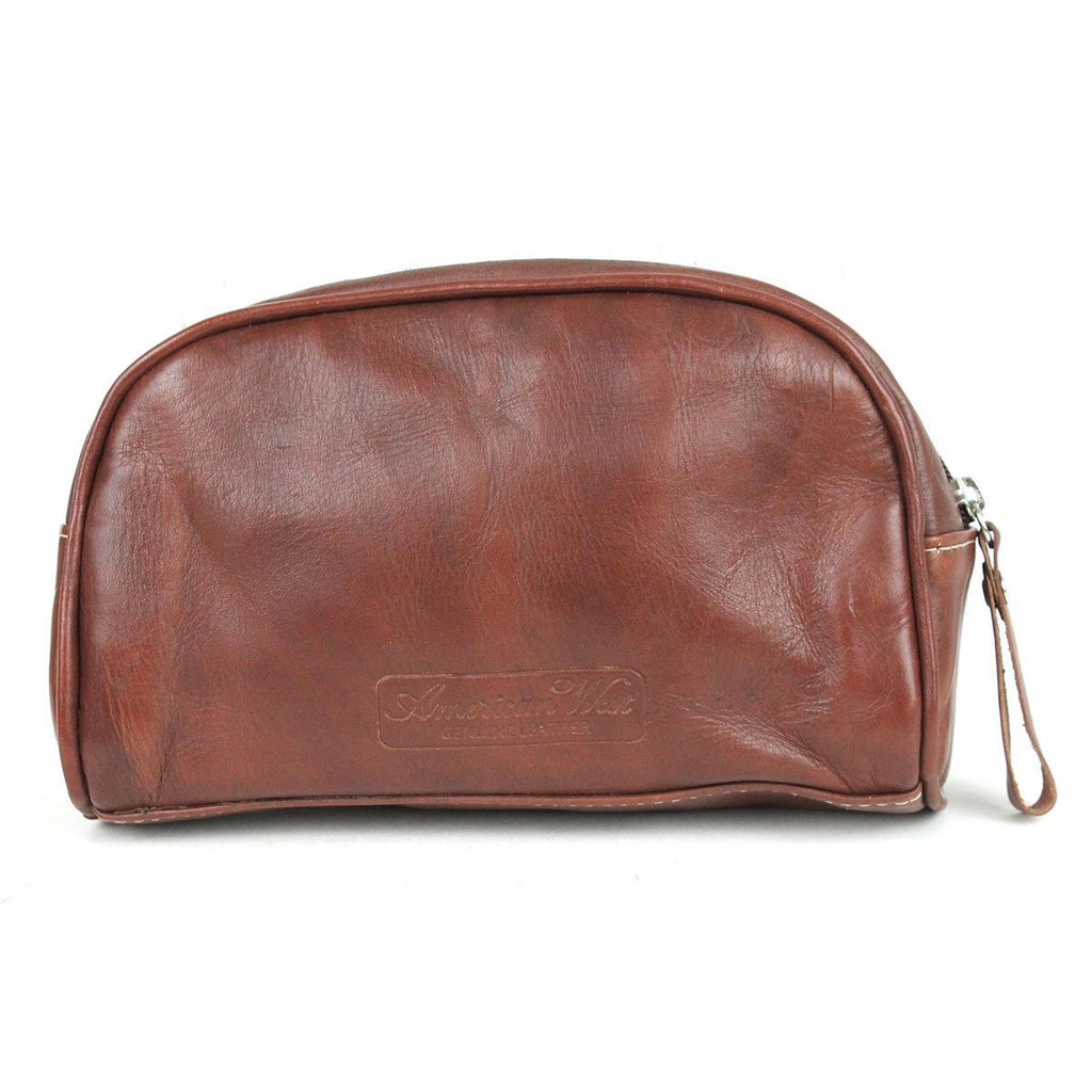 American West Hitchin' Post Collection Cosmetic Bag Brown Back