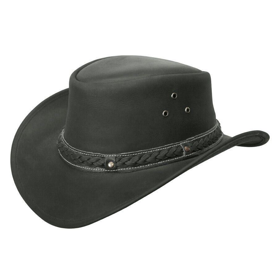 Conner Handmade Hats Cowboy Leather Down Under Black