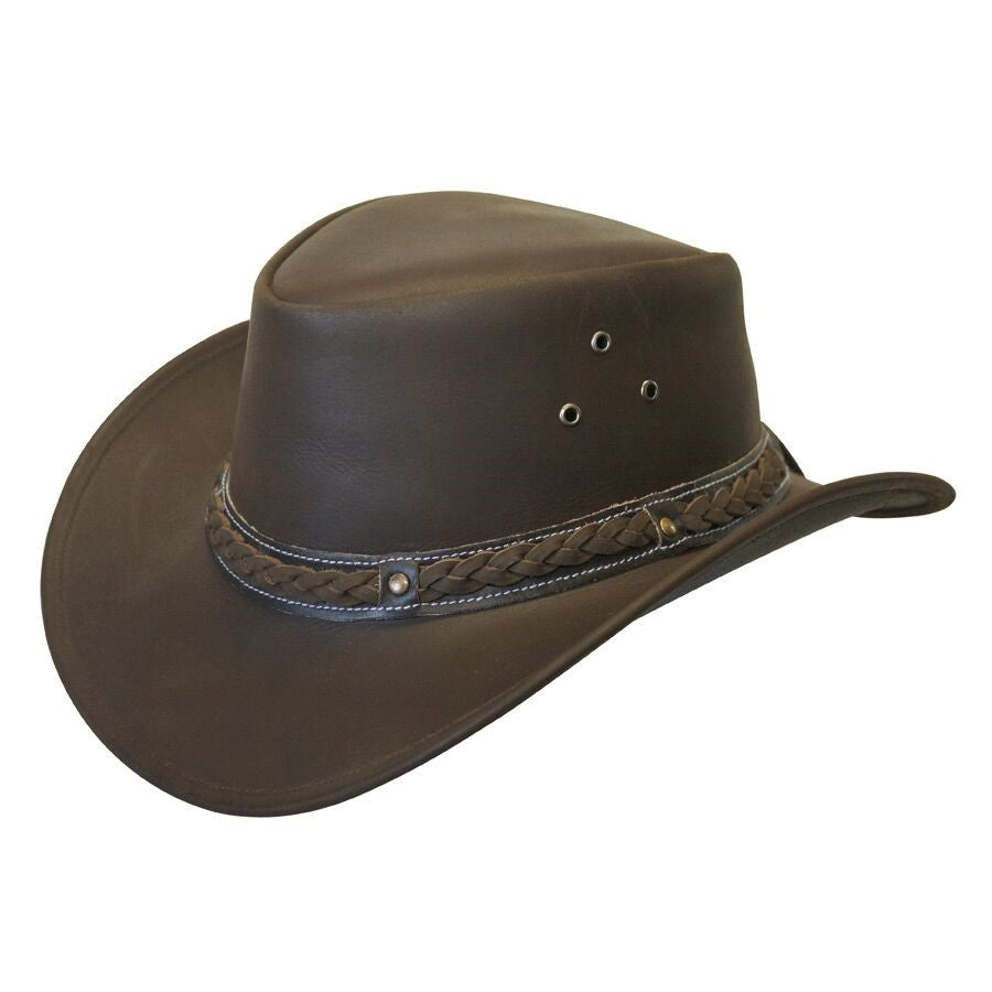 Conner Handmade Hats Cowboy Leather Down Under Brown