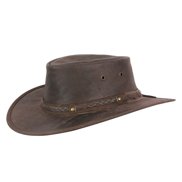 Conner Handmade Hats Kangaroo Crossing Leather Hat Brown