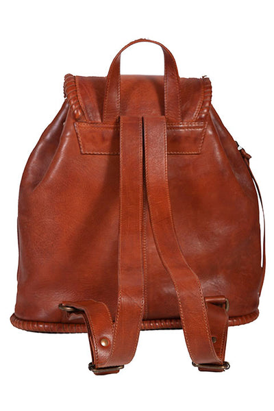 Scully Leather Co. Leather Backpack Front