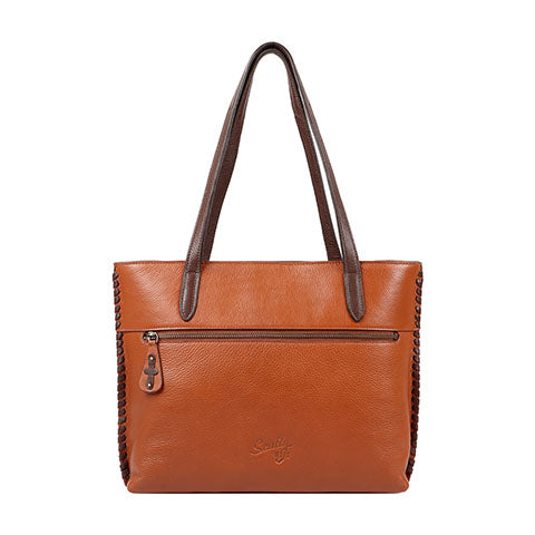 Scully Leather Co. Double Strap Handbag with Tooling Back