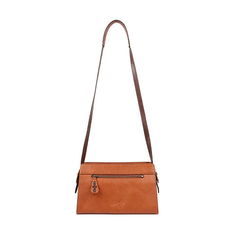 Scully Leather Co. Compact Shoulder Bag with Tooling Back