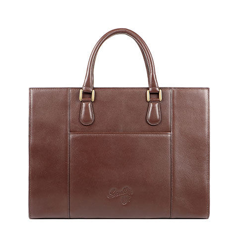 Scully Leather Co. Embossed Briefcase Back