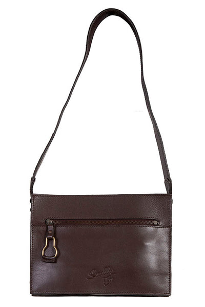 Scully Leather Co. Compact Shoulder Bag Embossed Front