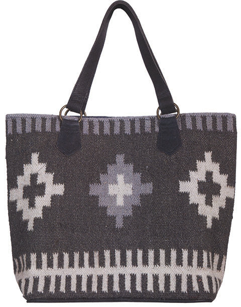 Scully Aztec Print Woven Tote Back
