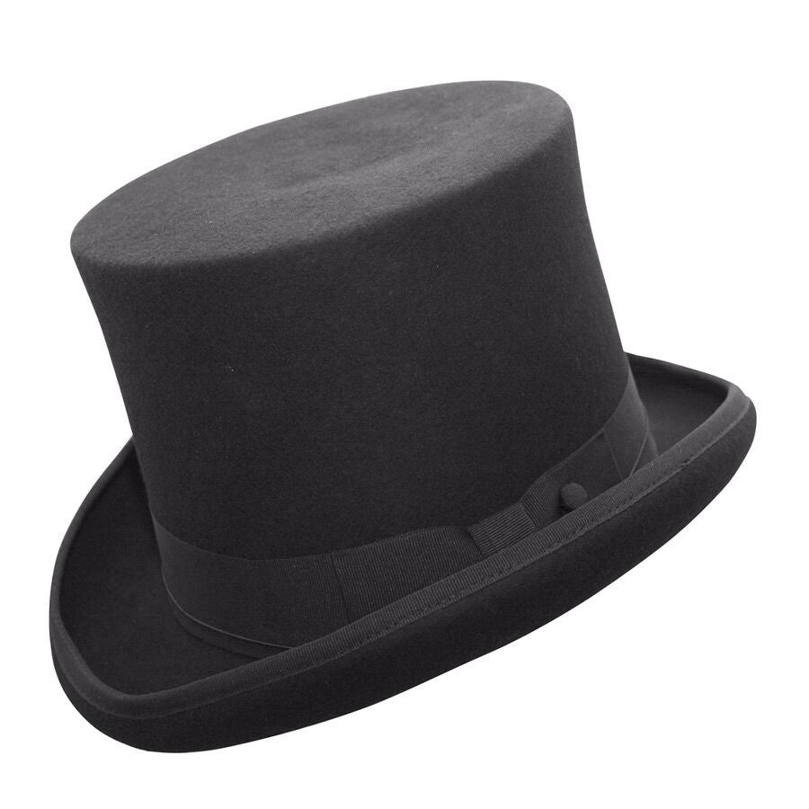 Conner Handmade Hats Victorian Steampunk Edward Top Hat Black Side