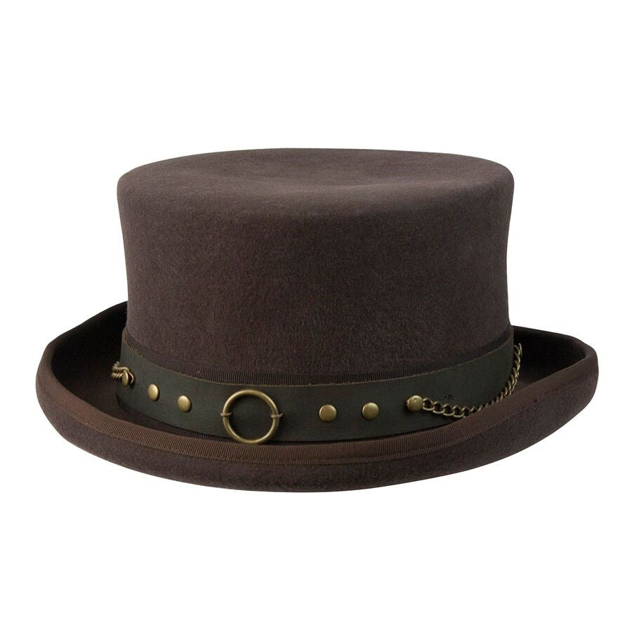 Conner Handmade Hats Victorian and Steampunk Jubilee Top Hat Brown