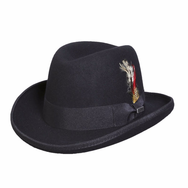 Conner Handmade Hats Mr. Homburg Fedora on Model C1109