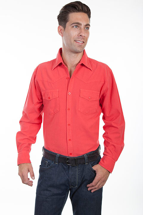 Cantina Collection for Men Cayenne Western Yoke Button Front Shirt