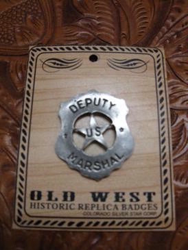 Old West Historic Replica Badge: Deputy US Marshal Shield