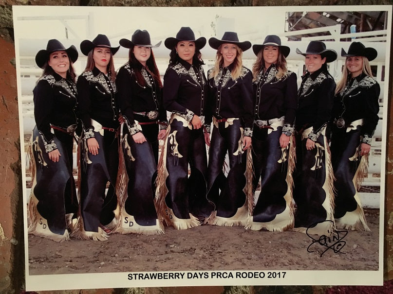 PRCA Rodeo Team All Wearing Scully Gunfighter Shirt for Ladies, Gold on Black