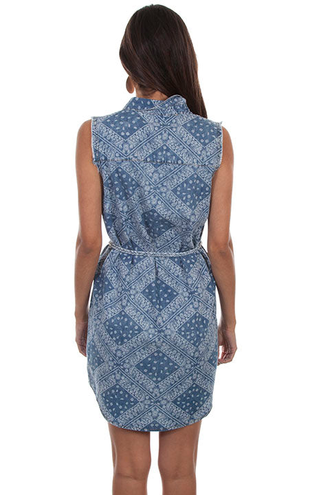 Scully Ladies' Honey Creek Paisley Hankerchief Sleeveless Dress Back
