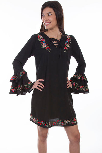 Scully Honey Creek Ladies' Embroidered Spanish Style Dress Front