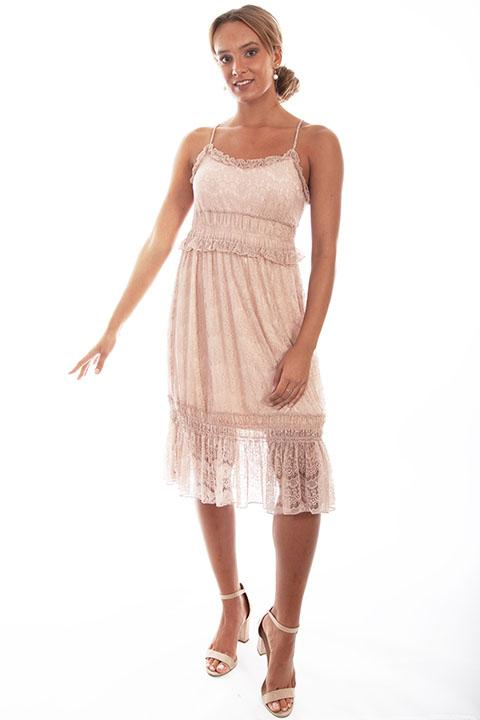Ladies' Scully Honey Creek Lace Rose Dress with Tiers Front