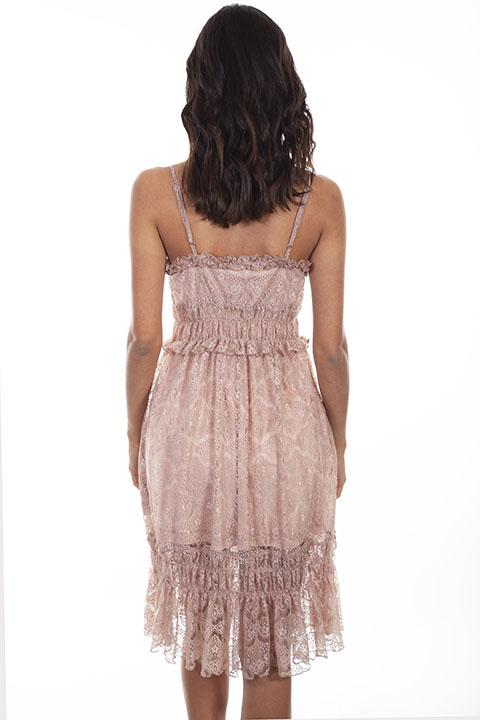 Ladies' Scully Honey Creek Lace Rose Dress with Tiers Back