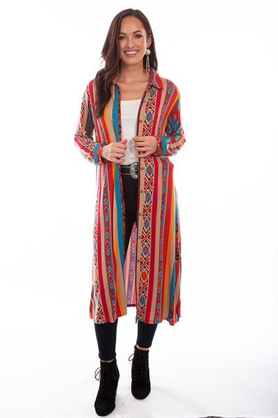 Scully Ladies' Honey Creek Serape Stripe Duster Dress Front