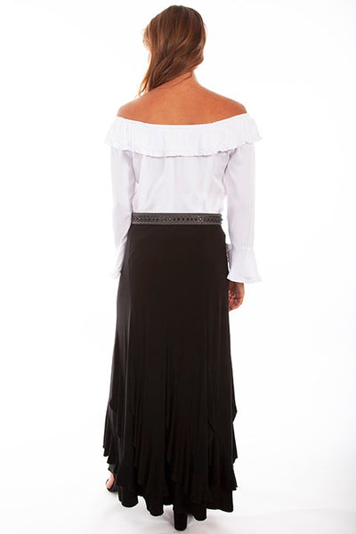 Scully Ladies' Honey Creek Ruffle Skirt Front