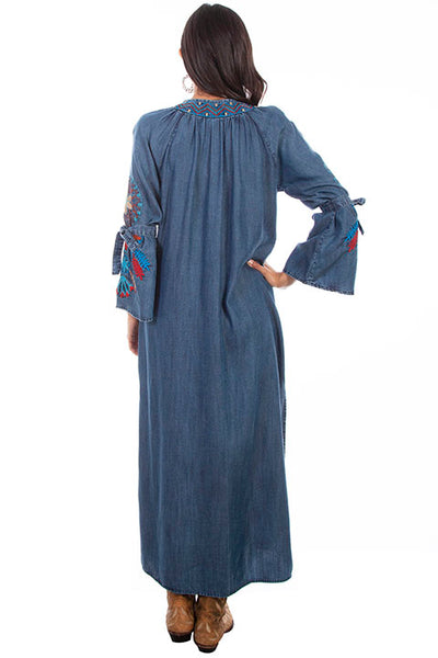 Scully Ladies' Honey Creek Denim Duster Front HC633