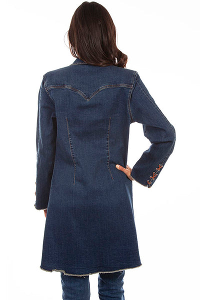 Scully Ladies' Honey Creek Denim Long Jacket Side HC640
