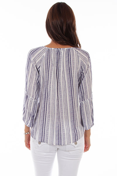 Scully Honey Creek 3/4 Sleeve Peasant Top Front #719665