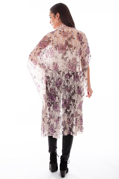 Scully Ladies' Honey Creek Print Lace Duster Front HC669