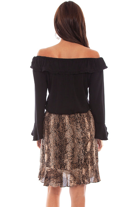 Scully Honey Creek Ladies' Python Print Skirt Back