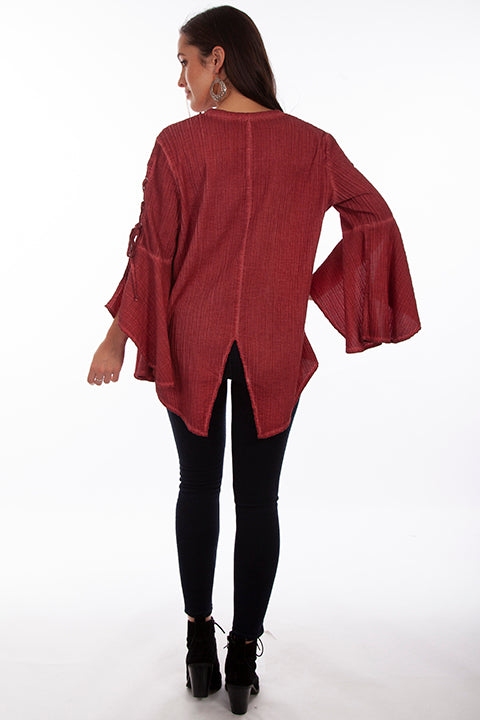 Scully Ladies' Honey Creek Pullover Tunic Red Back HC683