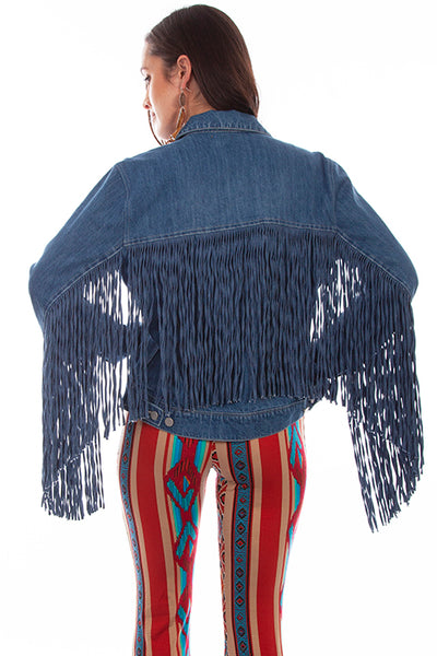 Women's Honey Creek Jacket Collection: Denim Fringe