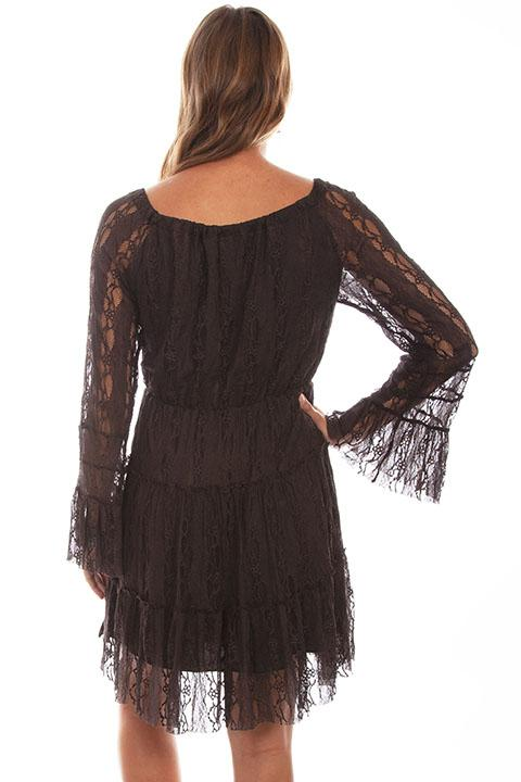 Honey Creek Collection Dress Lace Chocolate Back