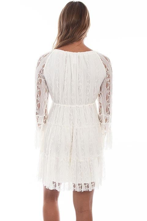 Honey Creek Collection Dress Lace Ivory Back