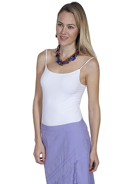 Scully Honey Creek Knit Camisole Tank Top White One Size
