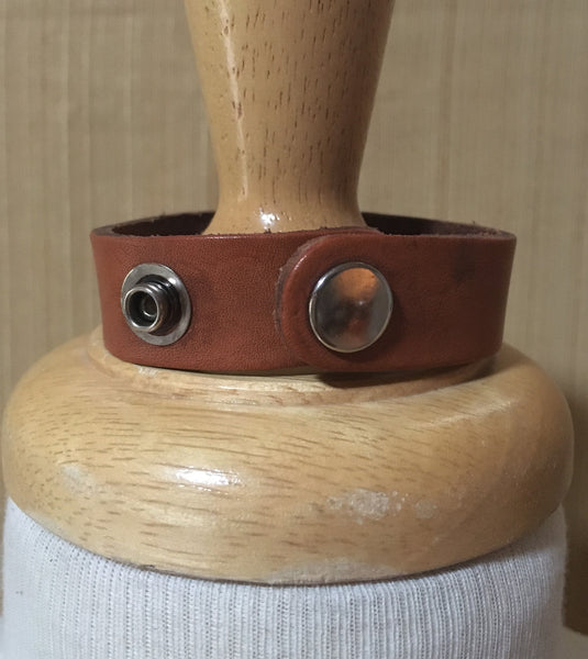 Praying Cowboy Leather Cuff Front
