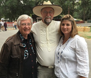 Author J.R. Sanders and Rose (M, R) 2016 Buckaroo Book Shop, Santa Clarita Cowboy Festival