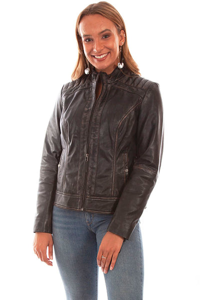 Scully Ladies' Leather Jacket Vintage Lamb Front
