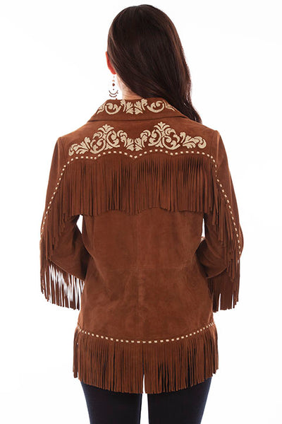 Scully Ladies' Suede Jacket Fringe Embroidery Front