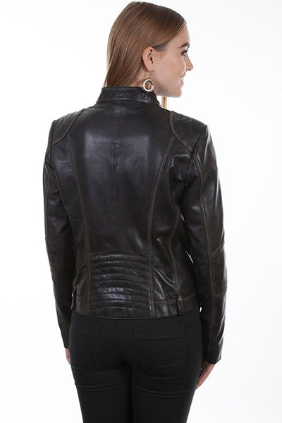 Scully Ladies' Motorcycle Jacket Vintage Lamb Front